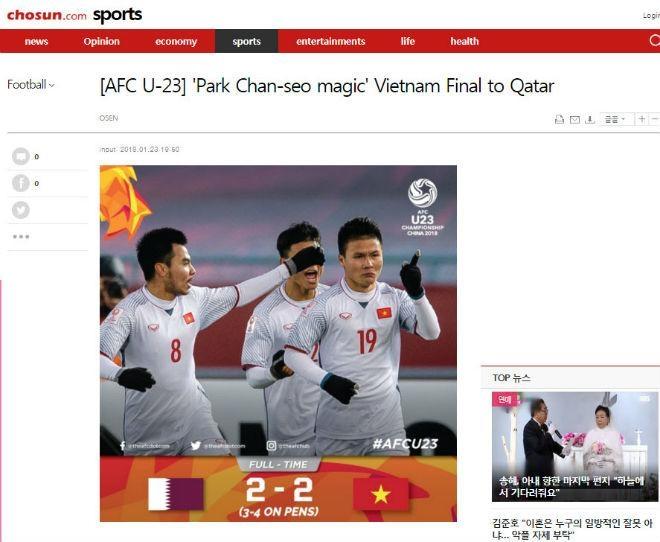 Báo Hàn hết lời ca ngợi HLV và cầu thủ U-23 Việt Nam