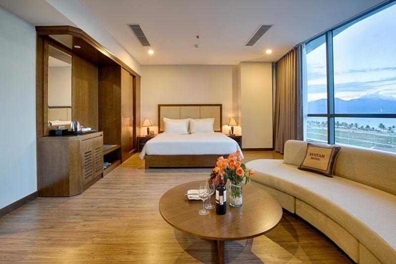 Một phòng nghỉ khá tiện nghi của khách sạn Avatar.