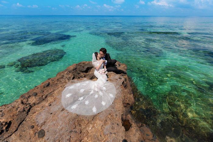 Ảnh cưới được chụp tại Đảo Nam Du