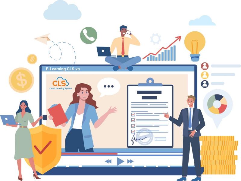 Đào tạo trực tuyến E-Learning cho ngành bảo hiểm (Ảnh minh họa)
