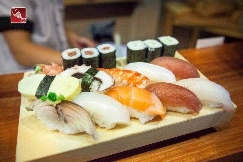 Sushi hấp dẫn ở Dasushi BBQ & Beer