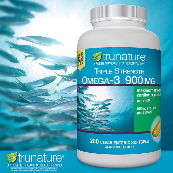 Viên uống Trunature Triple Strength đã thiết kế Omega-3 sức mạnh gấp ba, xung quanh một công nghệ softgel mới cải tiến!
