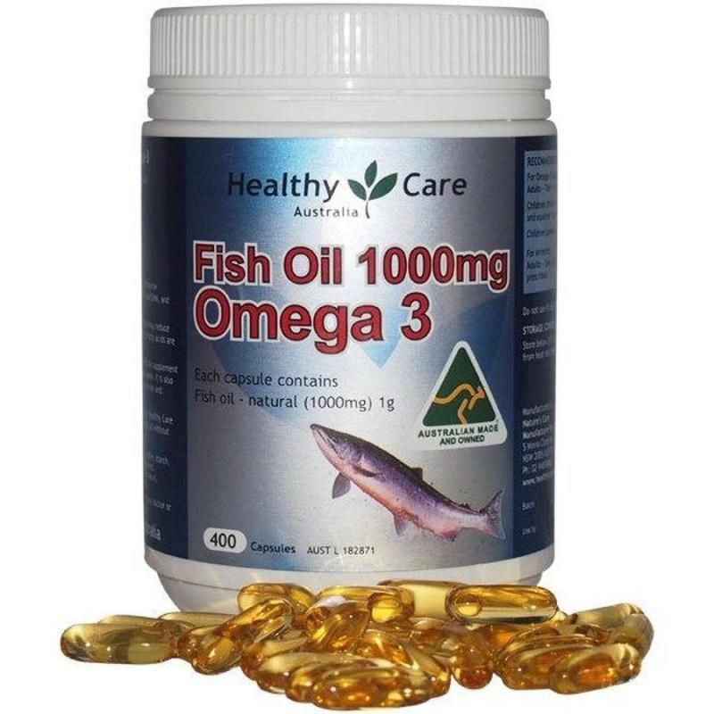 Thực phẩm chức năng Dầu cá tự nhiên Fish Oil Healthy Care Omega-3 1000mg 400 viên của Úc