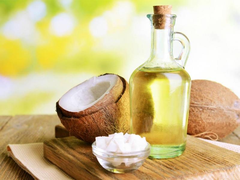 Hình ảnh dừa và dầu dừa