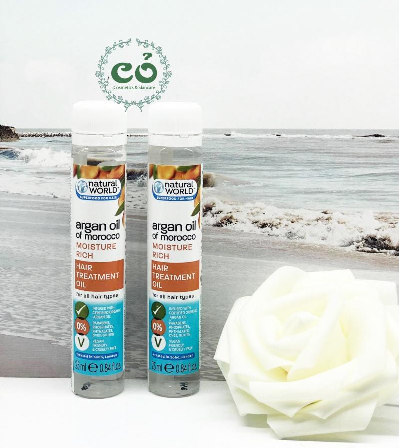 Dầu dưỡng tóc Argan oil of Morocco NATURAL WORLD