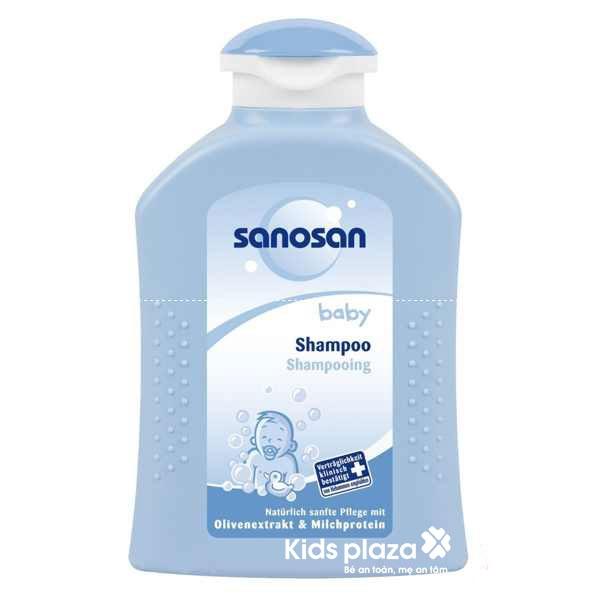 Được chiết xuất từ dầu ô liu và protein sữa nuôi dưỡng da đầu và chăm sóc tóc bé