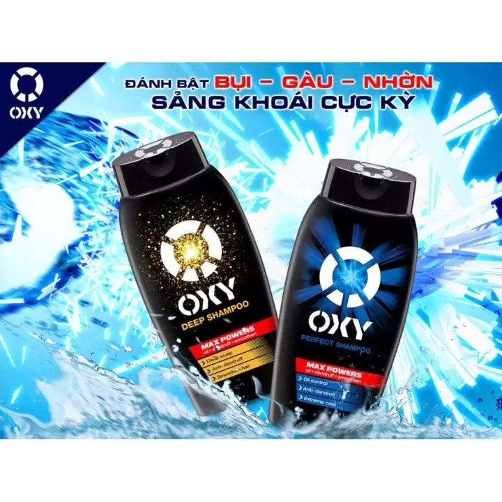 Dầu gội đánh bật gàu và nhờn cho nam Oxy Perfect Shampoo