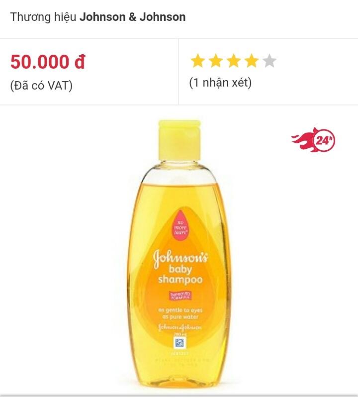 Dầu gội Johnson's baby shampoo dành cho trẻ sơ sinh  200ml