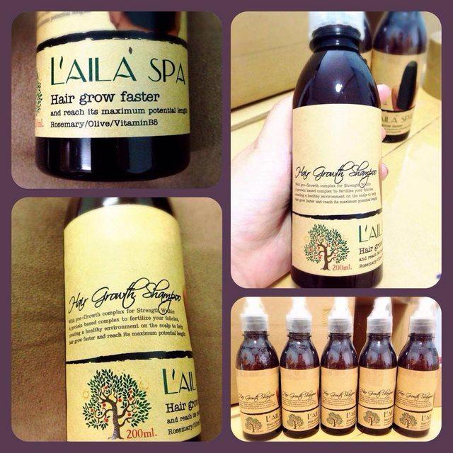 Dầu gội đầu kích thích mọc tóc LaiLaSpa có chiết xuất từ Lavender, vitaminB5, tinh dầu olive ...