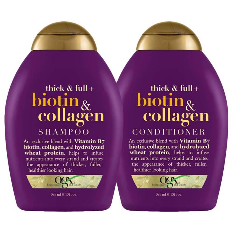 Bộ đôi chăm sóc tóc của Biotin & Collagen bao gồm cả dầu gội và dầu xả