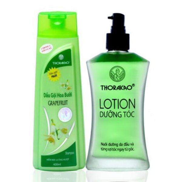 Bộ đôi hoàn hảo: Lotion dưỡng tóc 120ml - Dầu gội hoa bưởi 400ml