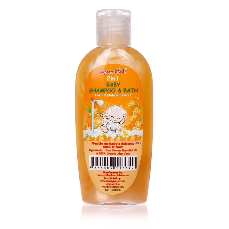 Dầu gội sữa tắm Aromakids 2 trong 1 Baby Shampoo & Bath với 3 thành phần chính