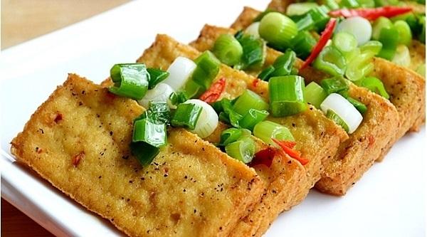 Món ăn được chế biến từ đậu phụ Bình Long