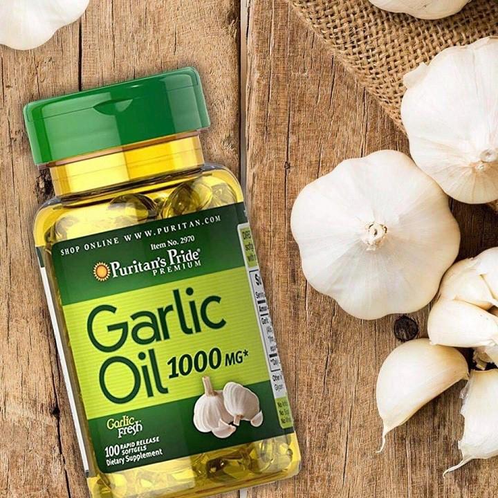 Dầu tỏi tăng cường miễn dịch, tốt cho tim mạch, giảm cholesterol Puritan's Pride Garlic Oil