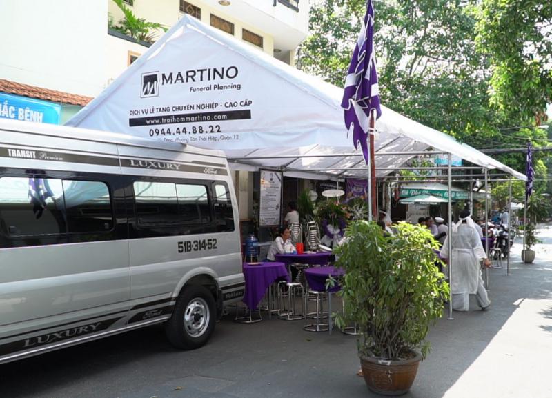 Dịch vụ mai táng trọn gói của trại hòm Martino