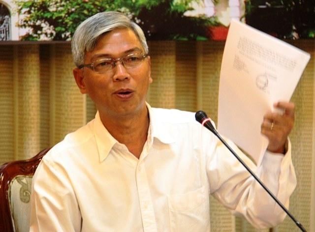 Chánh văn phòng UBND TP.HCM - ông Võ Văn Hoan thừa nhận sự vội vàng trong quyết định cấm dạy thêm, học thêm - Nguồn: Sưu tầm
