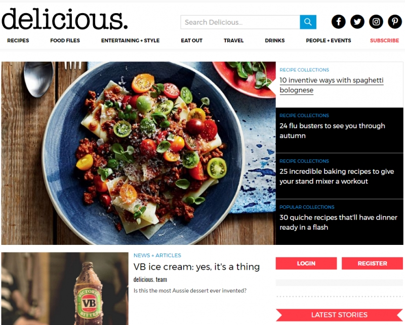 Delicious. website
