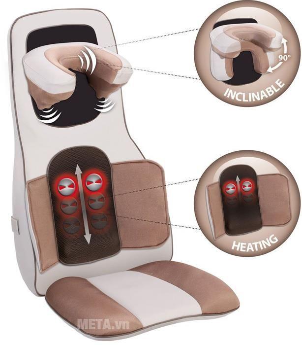 Đệm massage 3D hồng ngoại Lanaform Excellence LA110311: