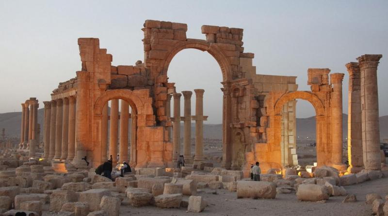 Vẻ đẹp của đền Baalshamin trước khi bị phá hủy bởi IS.