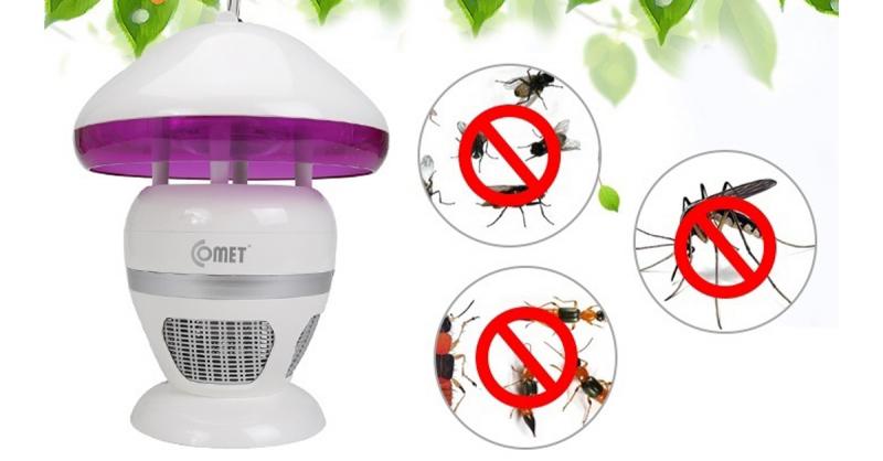 Đèn diệt muỗi đa năng Comet CM038 diệt hiệu quả ruồi, muỗi, kiến ba khoang