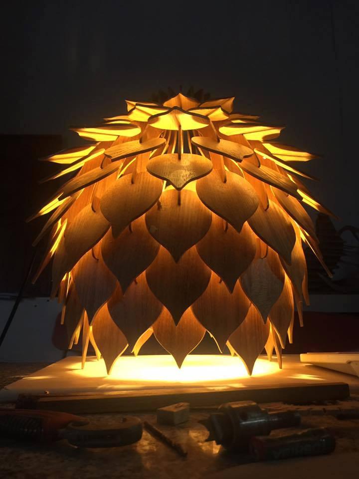 Đèn gỗ trang trí Đà nẵng