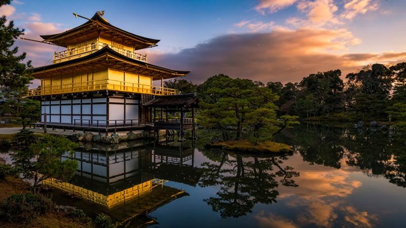 Đền Kinkaku-ji ở Kyoto