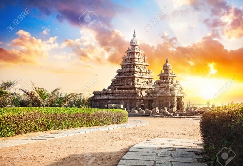 Đền Mahabalipuram - thánh tích Ấn Độ Giáo.