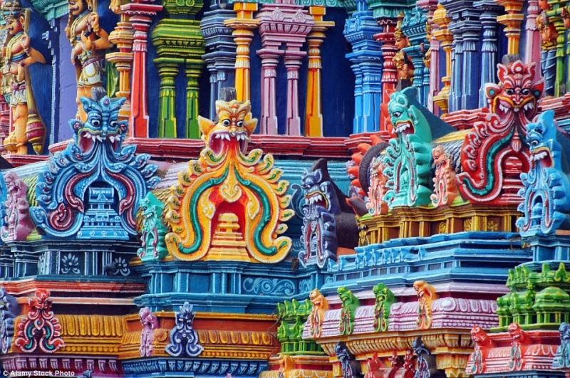 Đền Sri Ranganathaswamy ở Ấn Độ.
