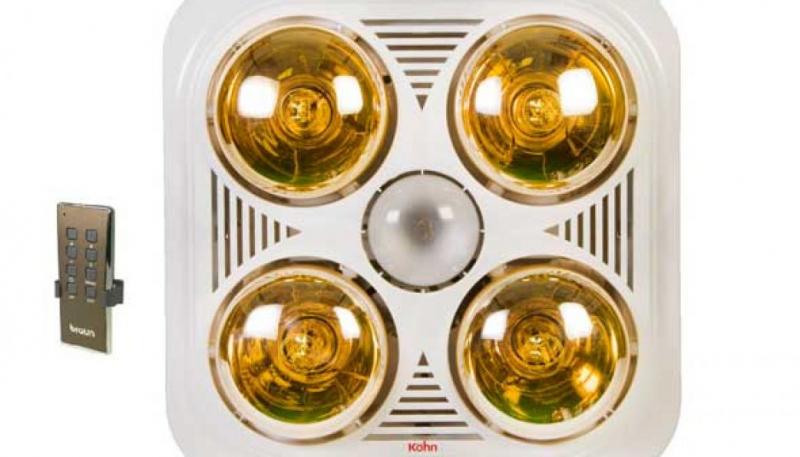 Đèn sưởi nhà tắm Braun Kohn KN04G âm trần 4 bóng