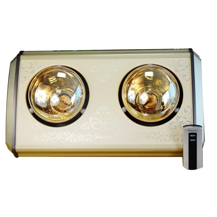 Đèn sưởi nhà tắm 2 bóng Moletty M-02HR