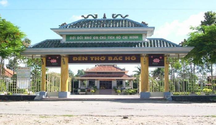 Cổng vào đền thờ Bác Hồ