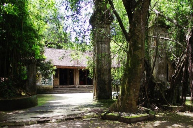 Một góc nhỏ đền Trúc