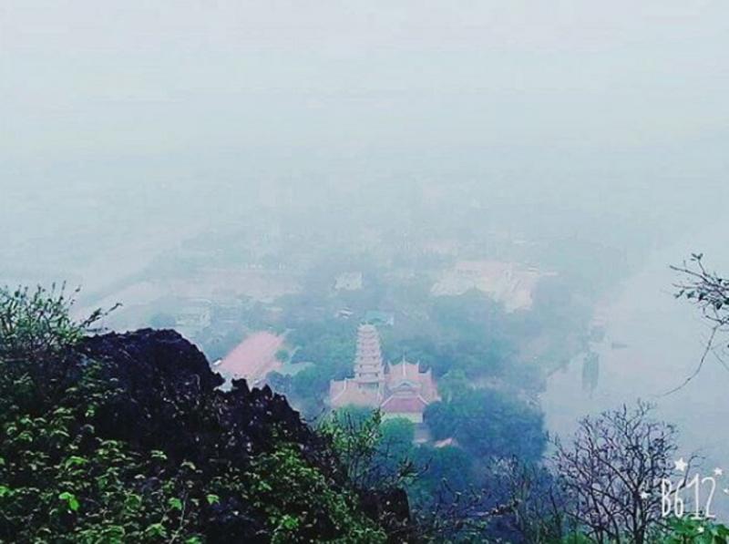 Toàn cảnh Ngũ Động Thi Sơn nhìn từ trên cao