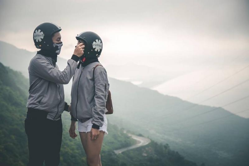 Khung cảnh trên cao của Đèo Hải Vân