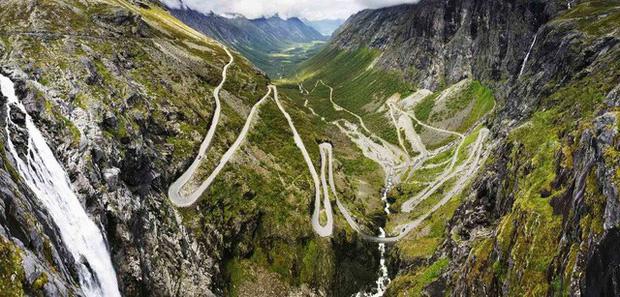 Đèo Trollstigen - Na Uy có chiều ngang vô cùng hẹp và độ dốc lên đến 9%