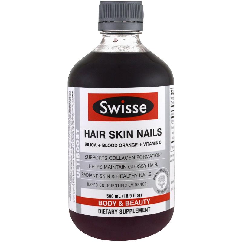 Đẹp da móng tóc dạng nước Swisse Ultiboost Hair Skin Nails Liquid 500ml