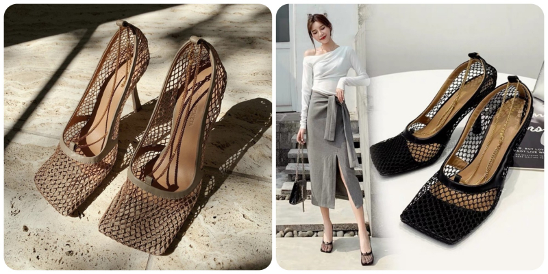 Giày lưới Bottega Veneta