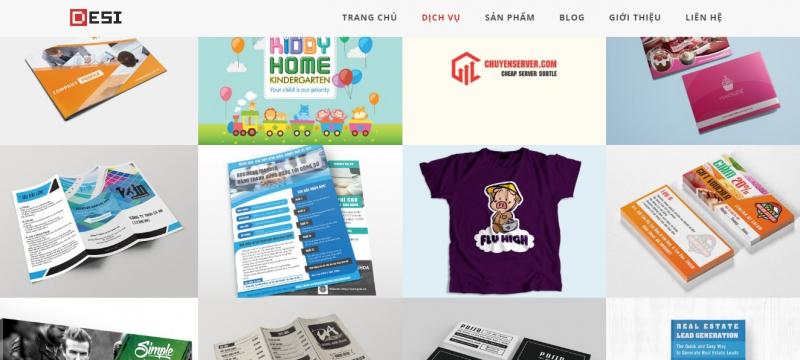 Giao diện website của Desi