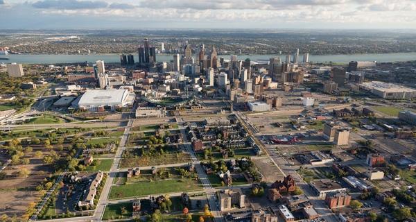 Detroit, Michigan, Hoa Kỳ nhìn từ trên cao