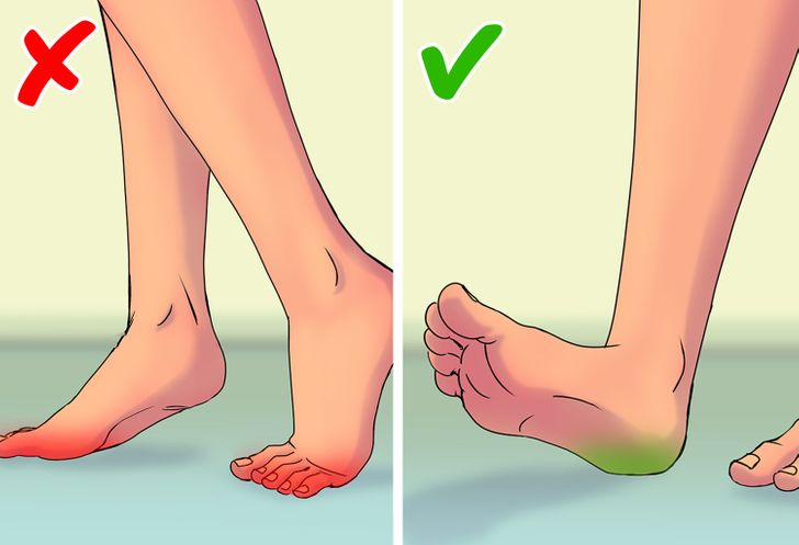 Đi bộ tiếp xúc bằng mũi bàn chân