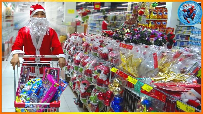 Đi chơi giáng sinh tại các siêu thị