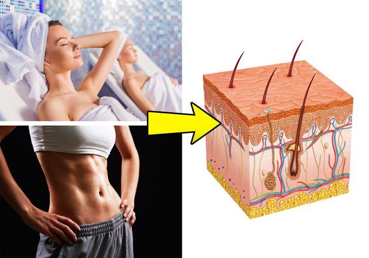 Đi tắm xông hơi hoặc tập thể dục