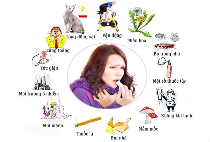Nguyên nhân di ứng gây nên hen suyễn