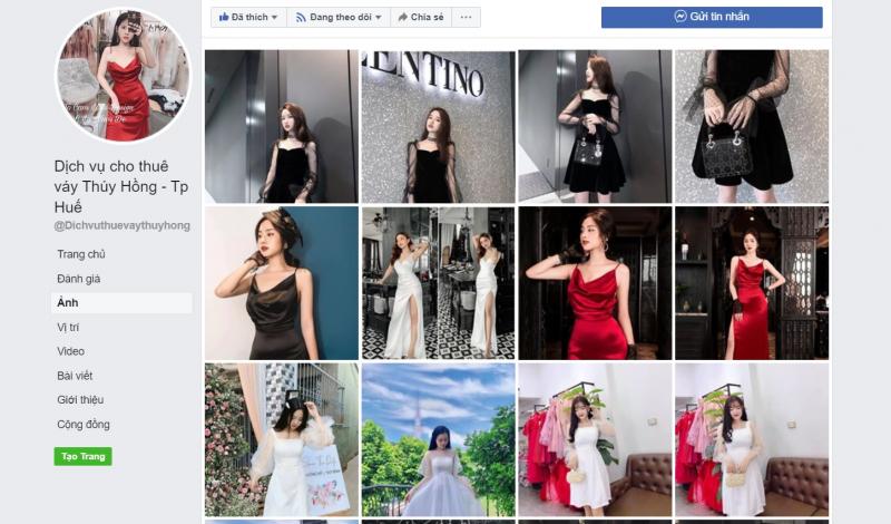 Dịch vụ cho thuê váy Thúy Hồng - Tp Huế