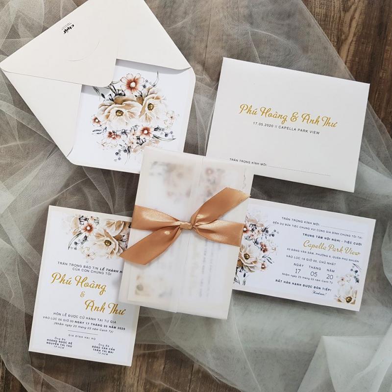 Top 7 Địa chỉ in thiệp cưới đẹp và uy tín nhất quận Bình Thạnh, TP. HCM
