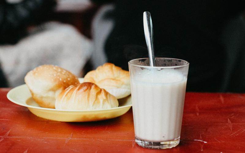 Sữa đậu nành ở Tăng Bạt Hổ rất nổi tiếng