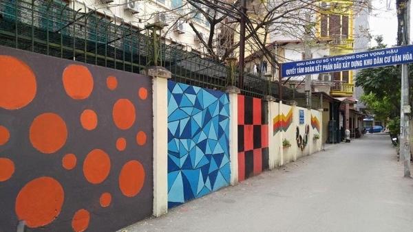 Bức tường mang đến sự trẻ trung, mới mẻ cho cả con phố