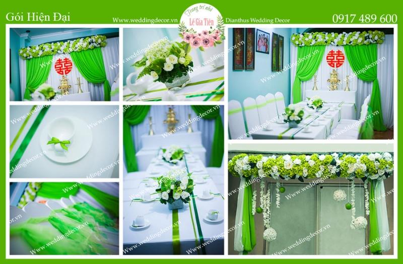 Dịch vụ trang trí nhà ngày cưới của Dianthus Wedding Decor rất đa dạng