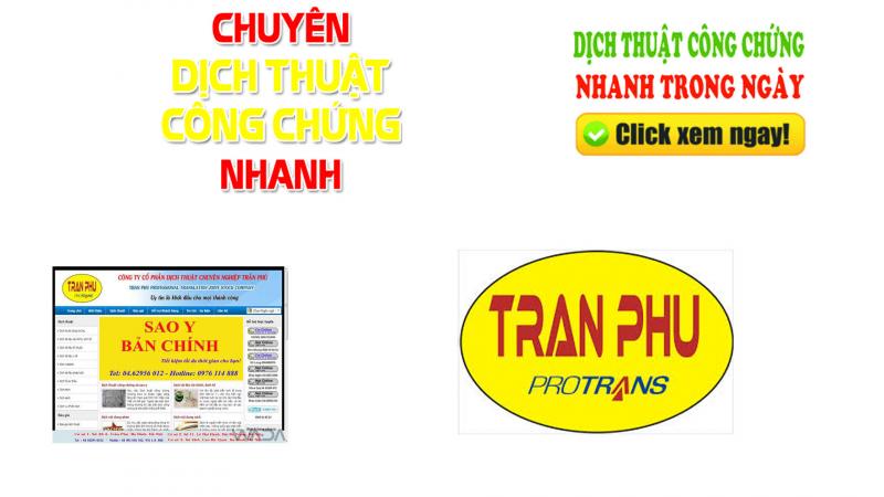 Dịch Thuật & Công Chứng Trần Phú