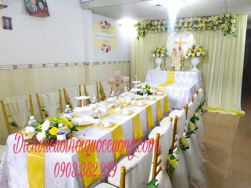 Trang trí nhà ngày cưới theo tông màu vàng